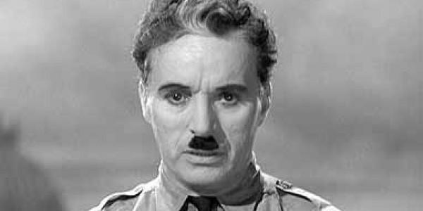 Charlie Chaplin dictateur gros plan