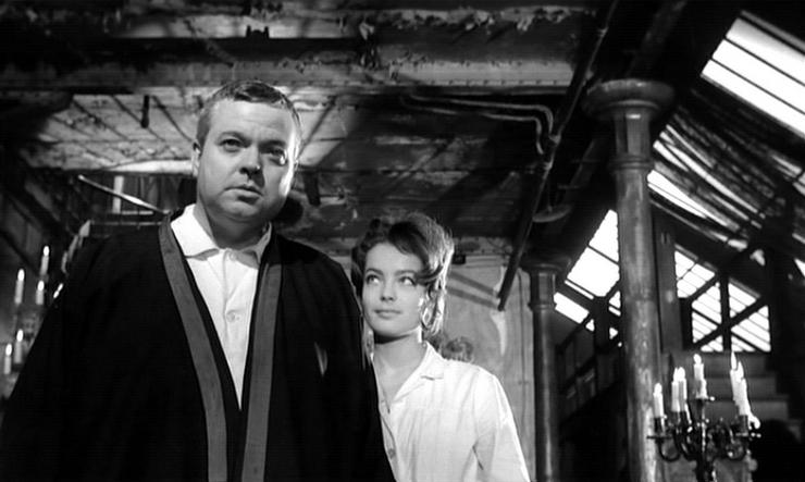 Romy Schneider et Orson Welles
