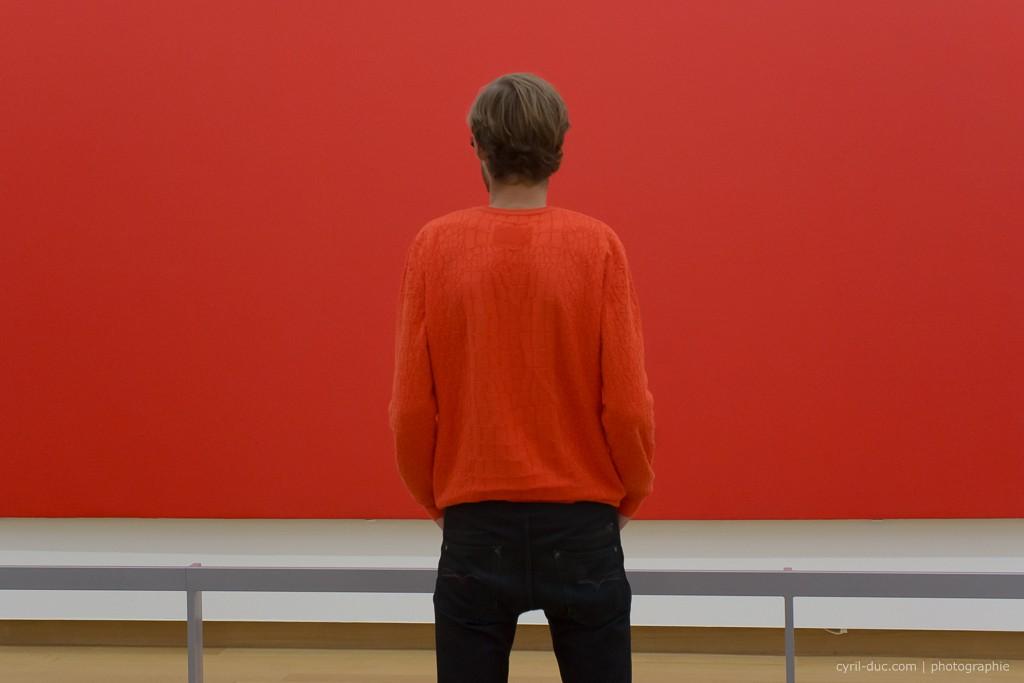 peinture homme rouge