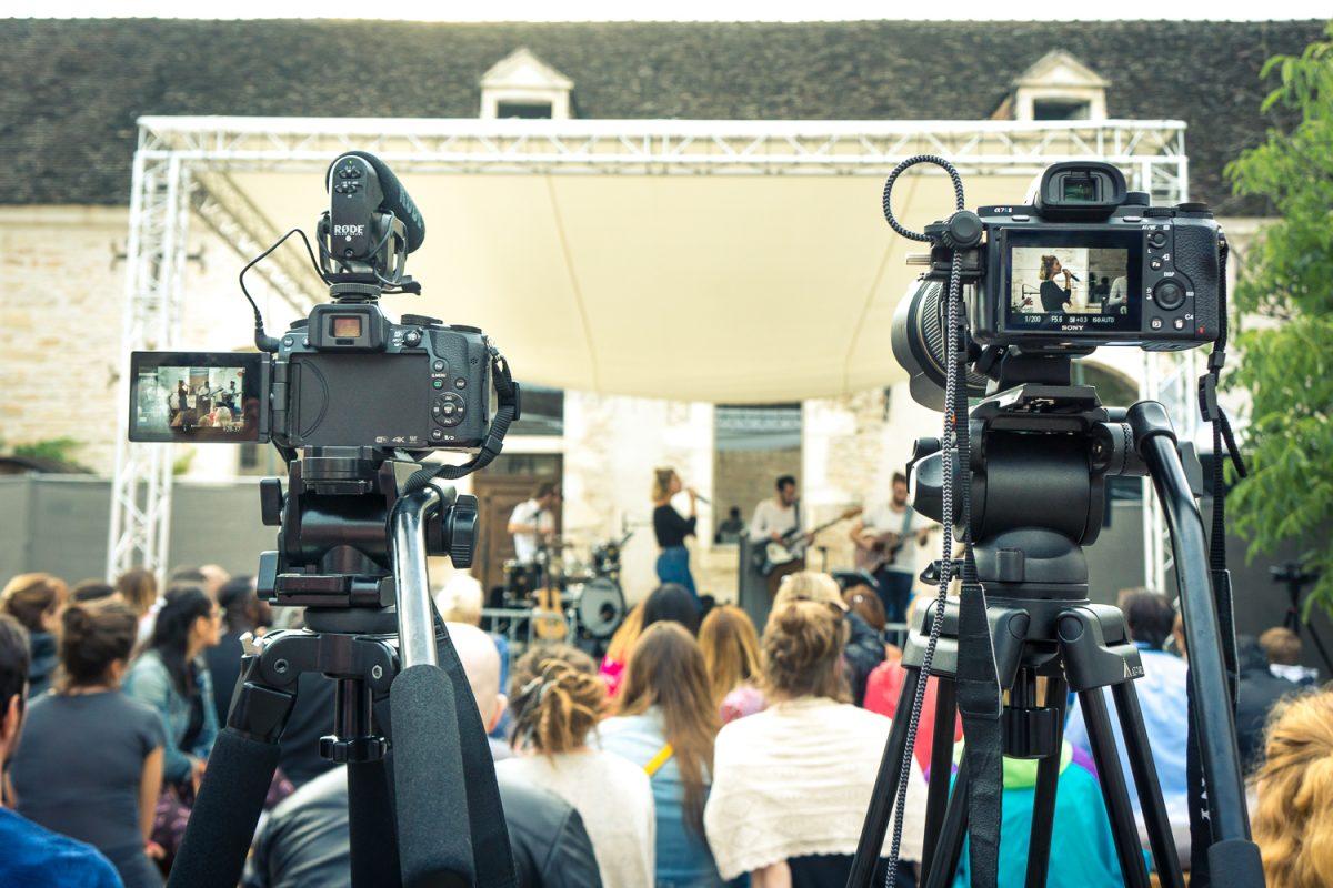 film concert caméras