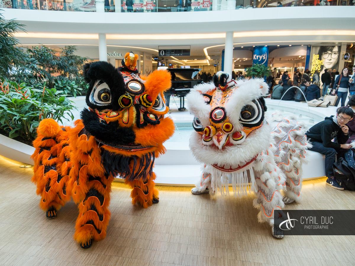 Animation costumes et musiques nouvel an chinois à Toison d'Or Dijon