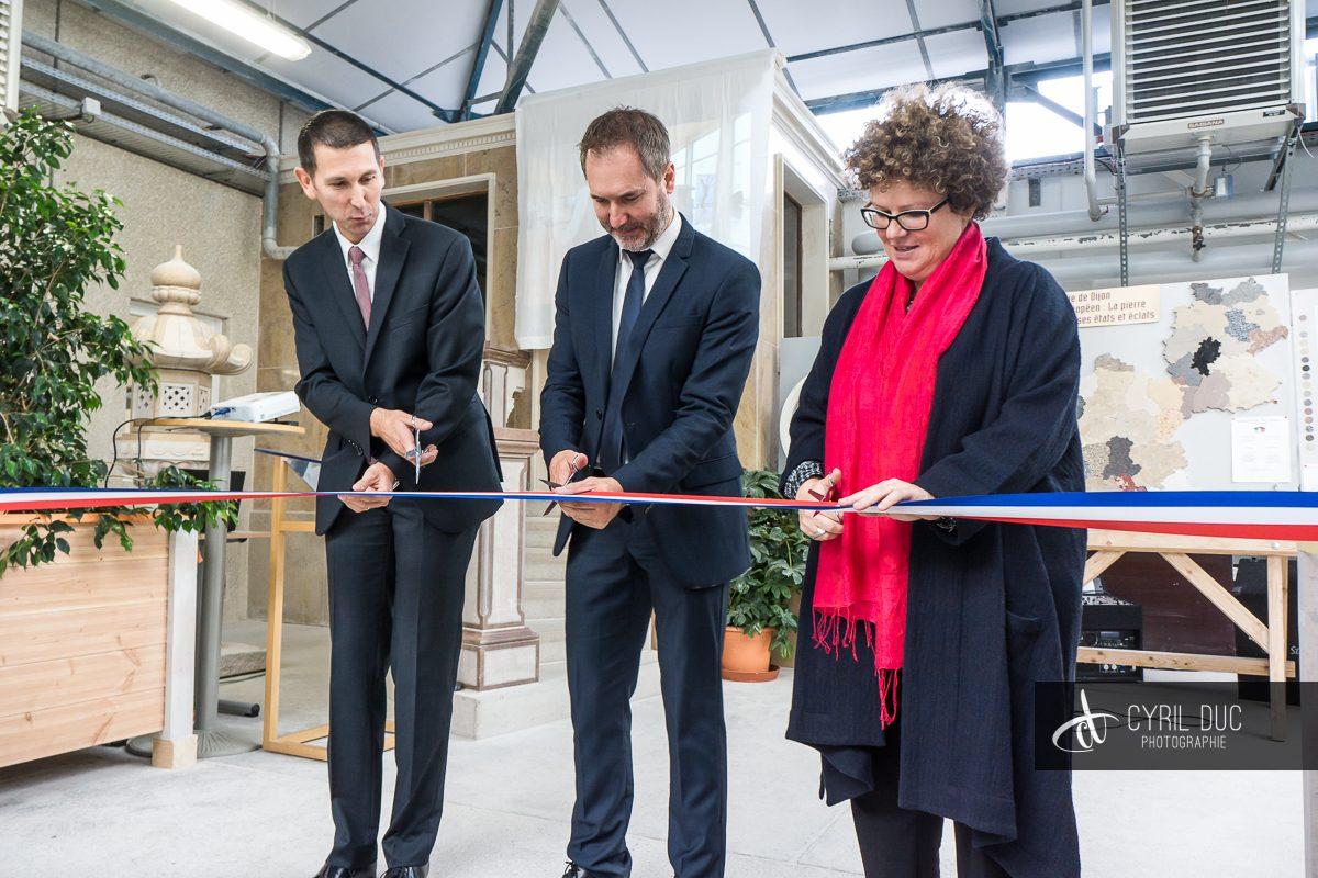 Inauguration atelier taille de pierres lycée Marcs d'Or 3