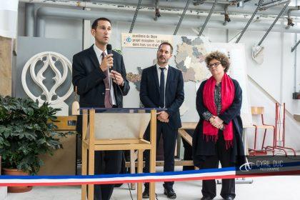 Inauguration atelier taille de pierres lycée Marcs d'Or