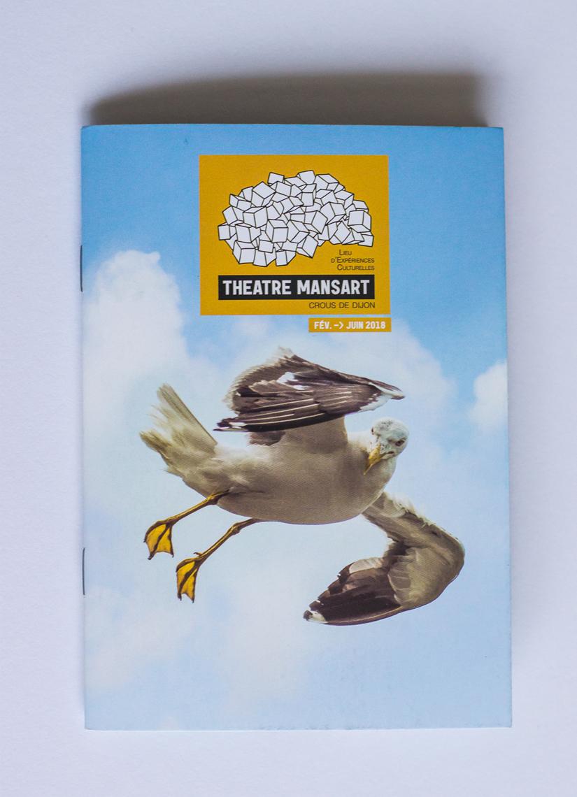 couverture de programme culturel Théâtre Mansart 2eme semestre 2017-2018 1ere de couv