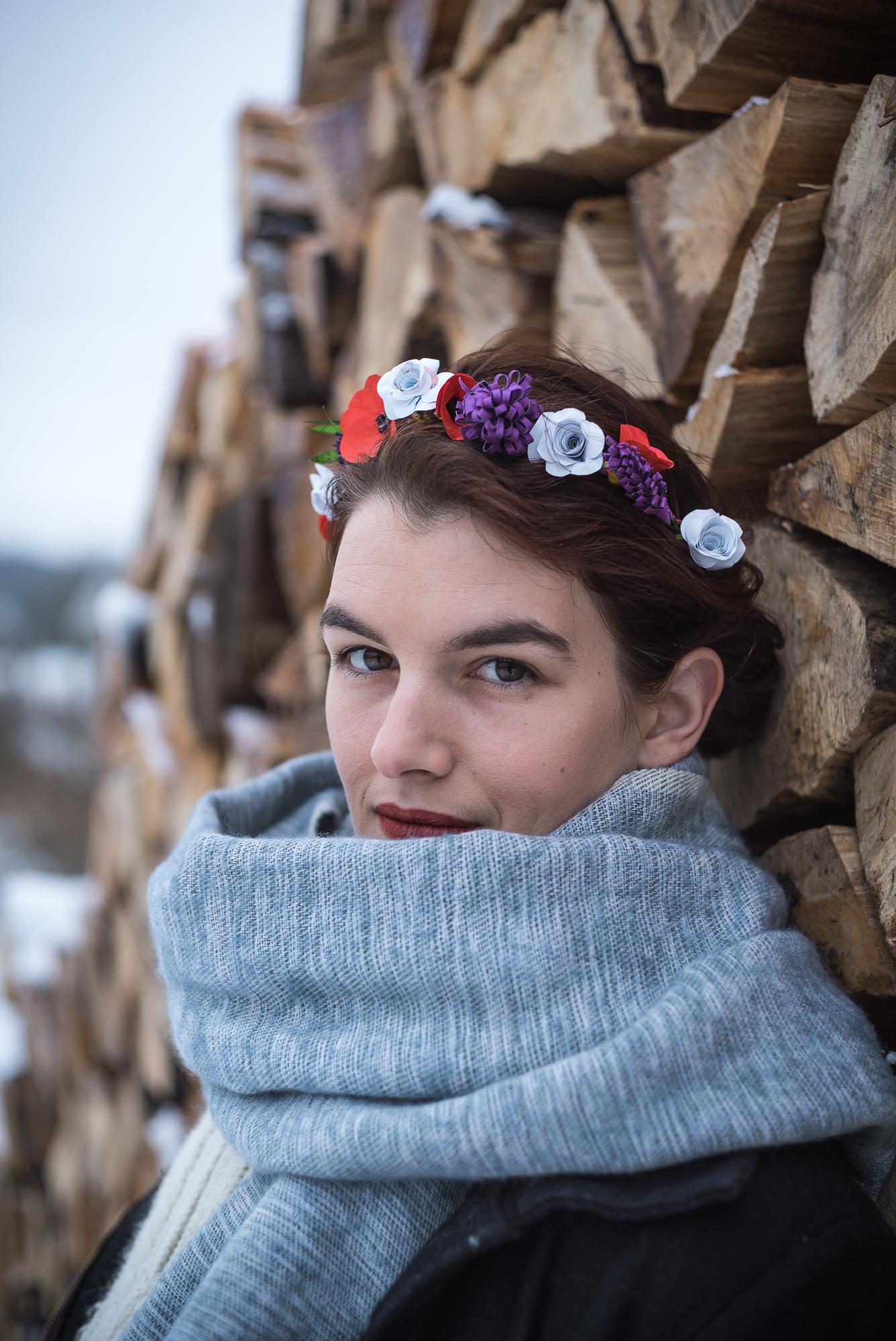 LMChardon - Parure cheveux fleurs de papier