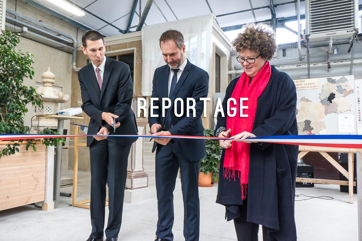 Inauguration de l'atelier taille de pierres au lycée des Marcs d'Or à Dijon